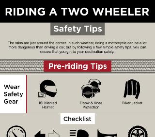 Riding A Two Wheeler: Safety Tips